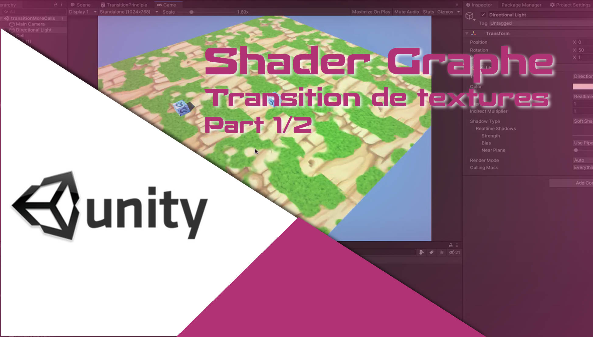 Transition de texture avec le Shader Graphe de Unity - part1