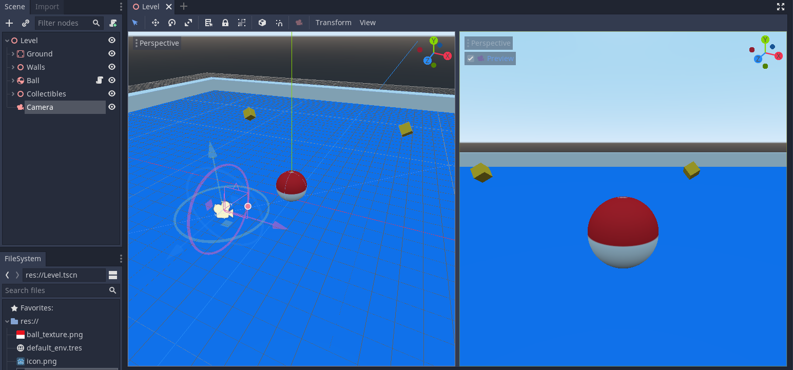 Roll The Ball 3D avec Godot Engine (partie II)